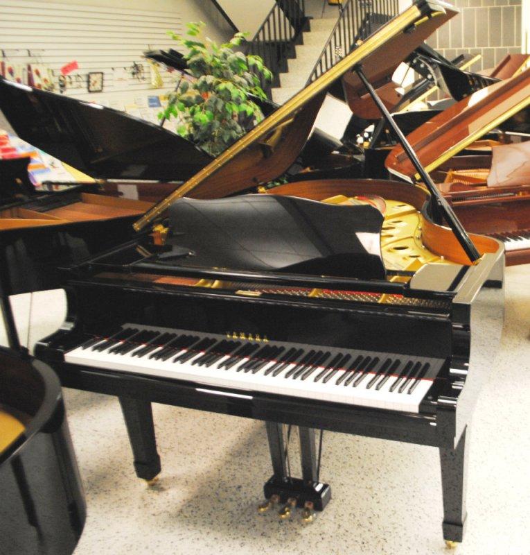 Yamaha grand piano g5 6 39 7 ebony polish ebay for Yamaha c3 piano price