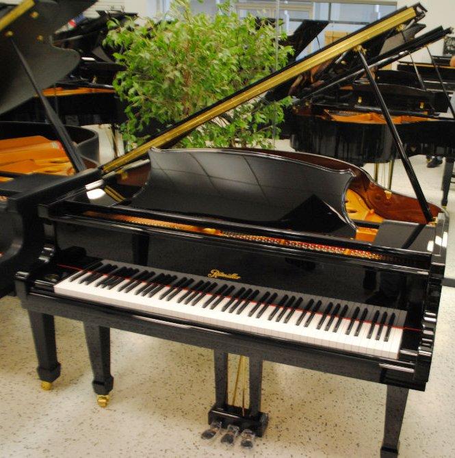 ritmuller baby grand piano ebony polish ebay. Black Bedroom Furniture Sets. Home Design Ideas