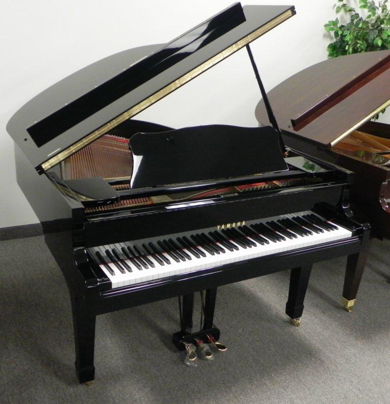 yamaha grand piano 58 model g2 ebony polish