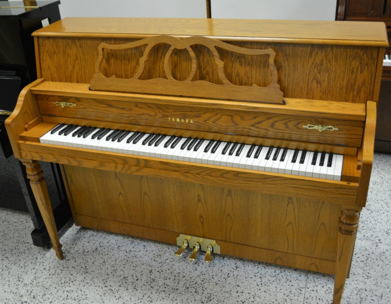 Yamaha deluxe console piano oak ebay for Yamaha console piano prices