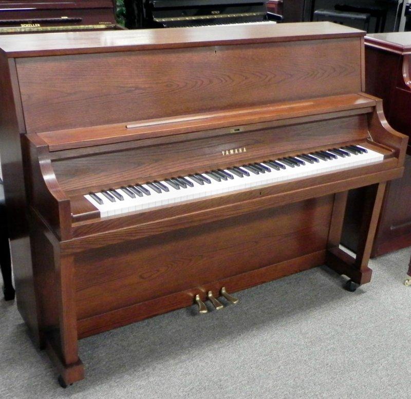 Yamaha professional upright piano p22 mocha oak ebay for Yamaha upright piano used