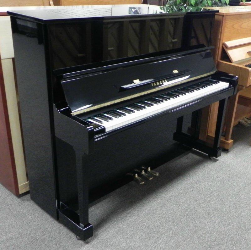 Yamaha upright piano u1 48 034 black polish 1989 model ebay for Yamaha upright piano models