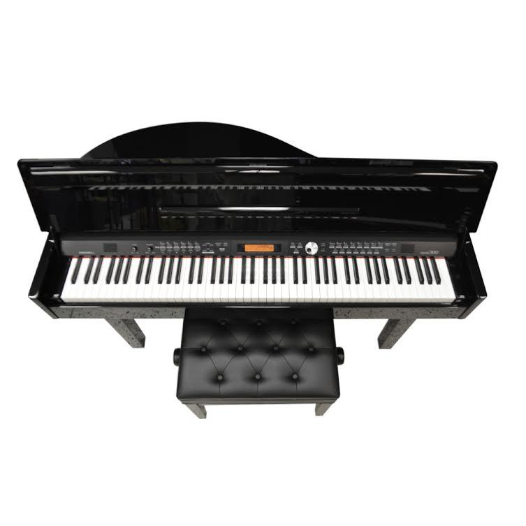 medeli grand 300 digital piano ebony polish. Black Bedroom Furniture Sets. Home Design Ideas