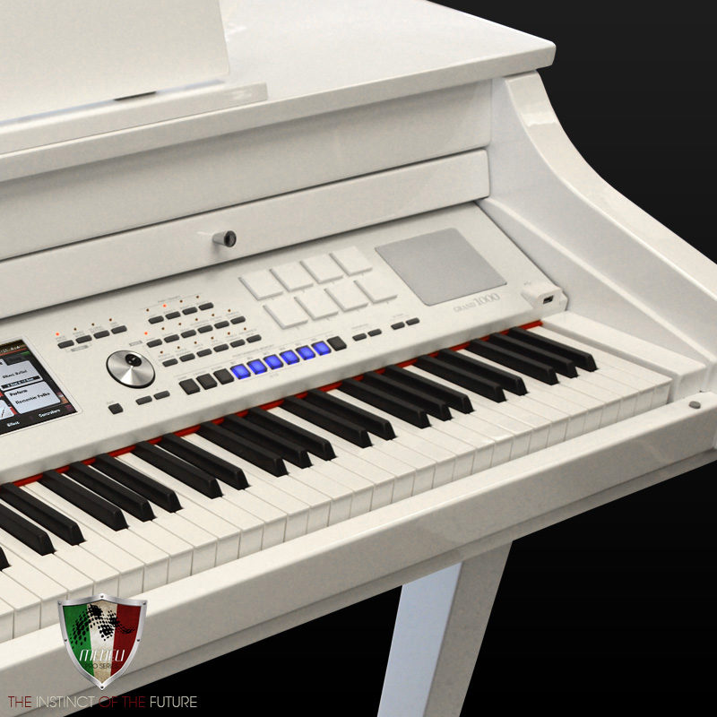 medeli digital baby grand 1000 piano white polish ebay. Black Bedroom Furniture Sets. Home Design Ideas