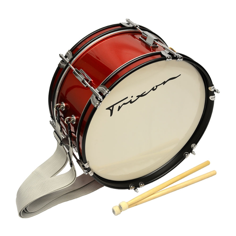 "Trixon Junior Marching Bass Drum 16 by 7"" Red Sparkle 