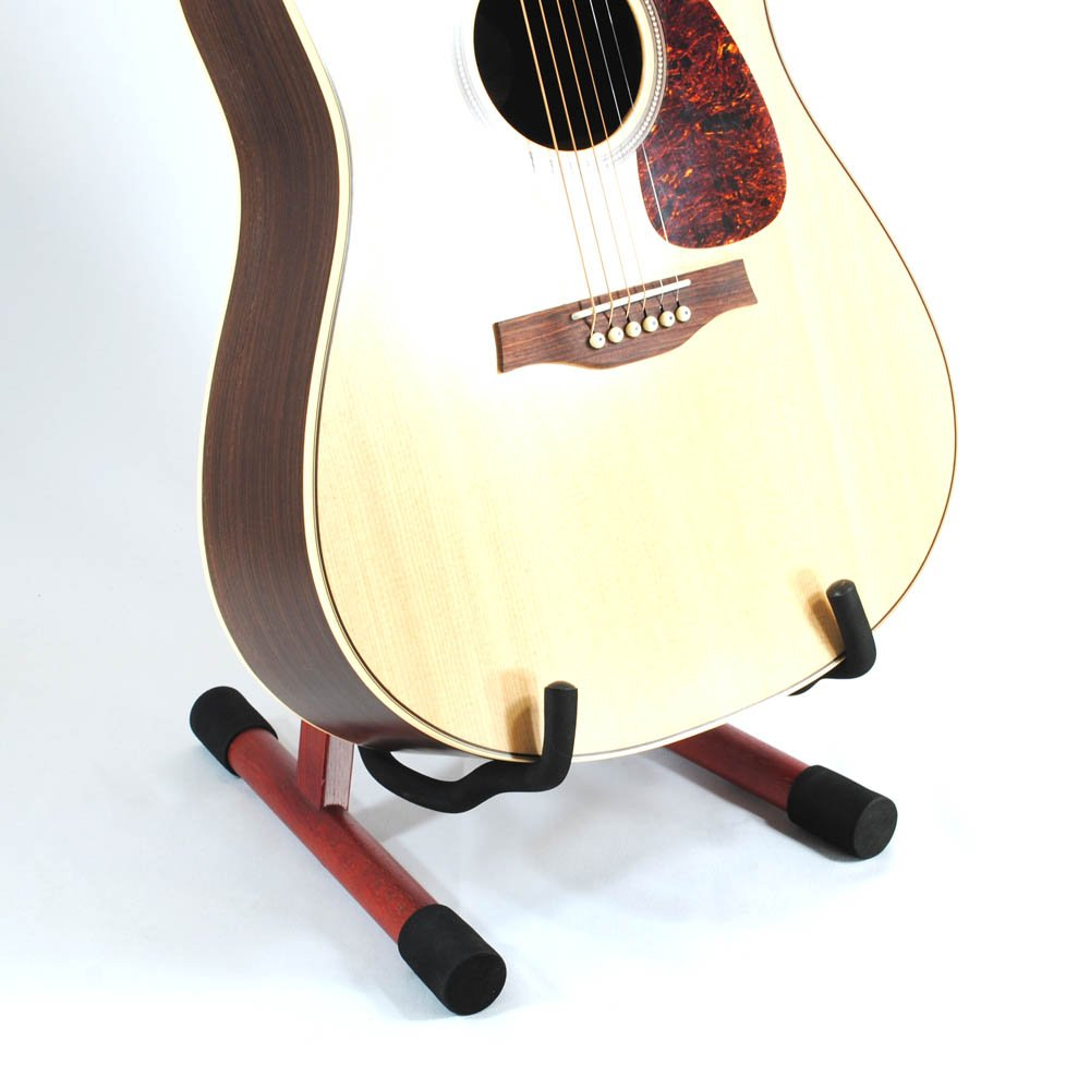 Frederick A Style Wooden Guitar Stand Cherry Mahogany