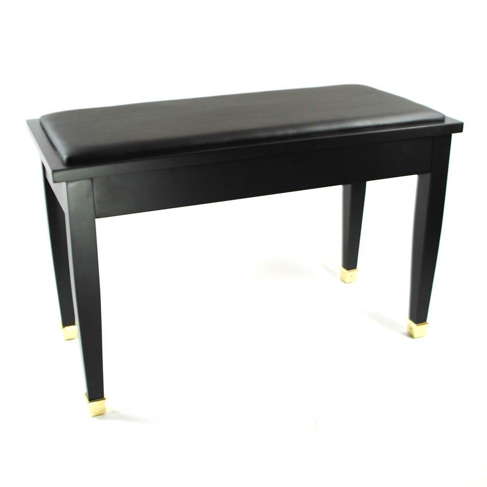 Frederick English Duet Piano Bench Ebony Satin With Brass Ebay